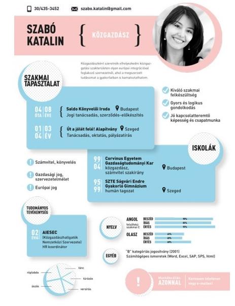 önéletrajz grafikus Infografikus önéletrajz neked is   Marketing   DigitalHungary önéletrajz grafikus
